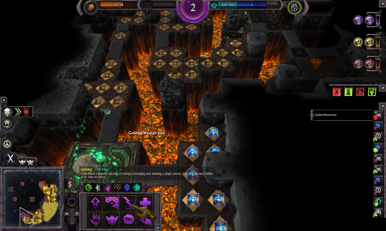 bug not known / War for the Overworld / Brightrock Games