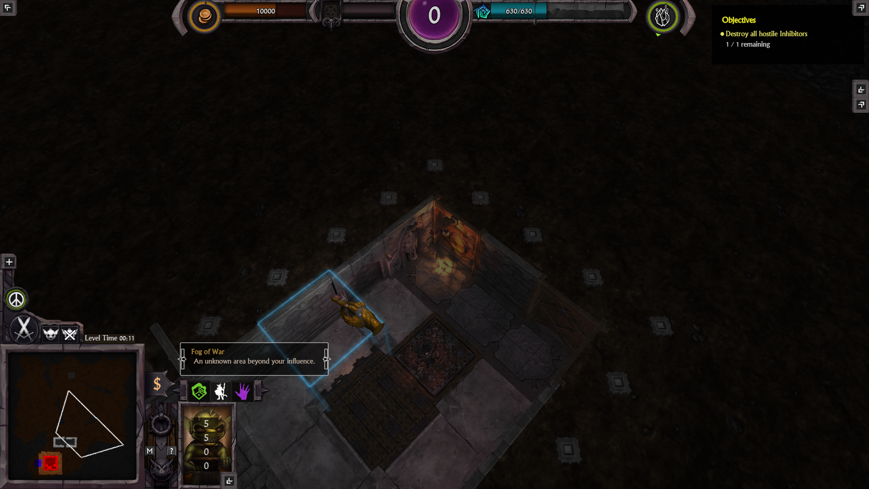 The prop position bug / War for the Overworld / Brightrock Games